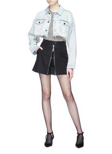 Alexander Wang  Raw hem cropped denim jacket