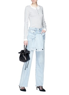 Alexander Wang  Detachable sleeve tie jeans