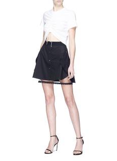 Alexander Wang  Mesh underlay mini shirt skirt