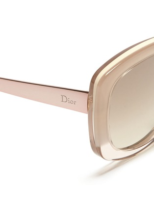 Detail View - Click To Enlarge - Dior - 'Extase 2' metal temple ombré acetate sunglasses
