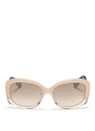 Main View - Click To Enlarge - Dior - 'Extase 2' metal temple ombré acetate sunglasses