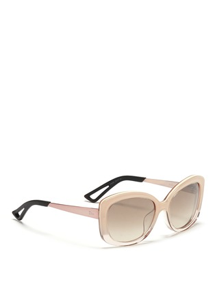 Figure View - Click To Enlarge - Dior - 'Extase 2' metal temple ombré acetate sunglasses