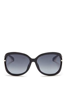 DIOR'Dior Twisting' Deco temple suspended acetate sunglasses