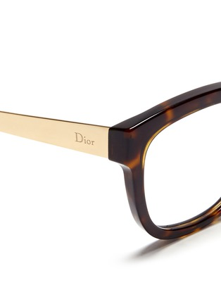 Detail View - Click To Enlarge - Dior - Metal temple tortoiseshell acetate optical glasses