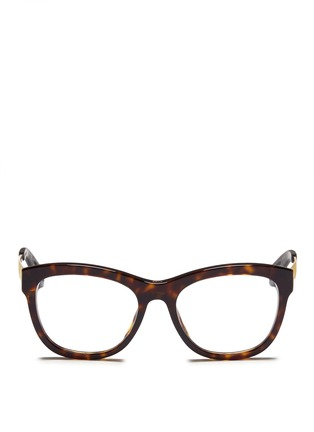 Main View - Click To Enlarge - Dior - Metal temple tortoiseshell acetate optical glasses