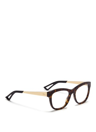Figure View - Click To Enlarge - Dior - Metal temple tortoiseshell acetate optical glasses