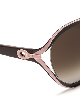 Detail View - Click To Enlarge - Dior - 'Elle 1' metal curve suspended sunglasses