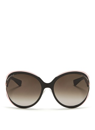 Main View - Click To Enlarge - Dior - 'Elle 1' metal curve suspended sunglasses