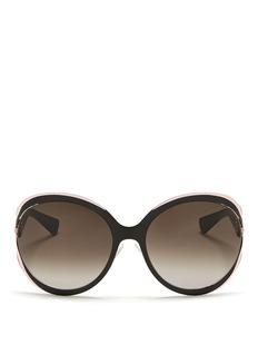 DIOR'Elle 1' metal curve suspended sunglasses