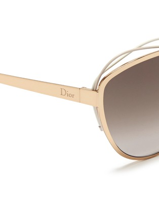 Detail View - Click To Enlarge - Dior - 'Songe' rubber twist brow bar metal sunglasses