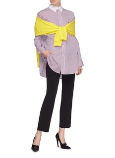 Balenciaga Convertible sweatshirt panel stripe shirt