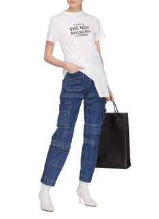 Balenciaga Convertible hem slogan print T-shirt