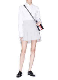 Thom Browne Pleated stripe seersucker skirt