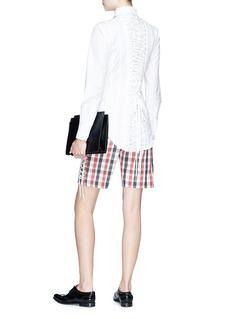 Thom Browne Lace-up back poplin shirt
