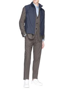 Lardini 'Easy Wear' retractable hood gilet