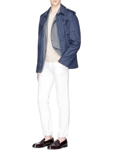 Lardini 'Easy Wear' detachable hood jacket