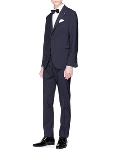 Lardini Woven cotton tuxedo shirt