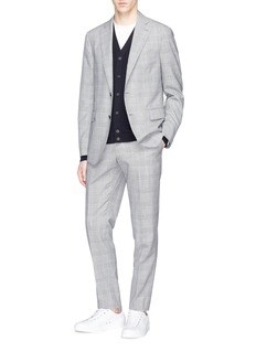 Lardini 'Sartoria' wool hoodstooth check suit