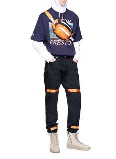Heron Preston 罗缎条纹点缀纯棉牛仔裤