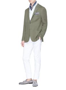 Boglioli 'K Jacket' cotton-linen knit soft blazer