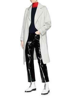 Chris Ran Lin x Lane Crawford Sash tie wool-cashmere melton coat