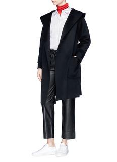 Chris Ran Lin x Lane Crawford Hooded wool-cashmere melton coat