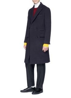 Chris Ran Lin x Lane Crawford 双排扣混羊毛麦尔登呢大衣