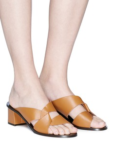 ATP Atelier 'Adria Solid' knot strap leather mules