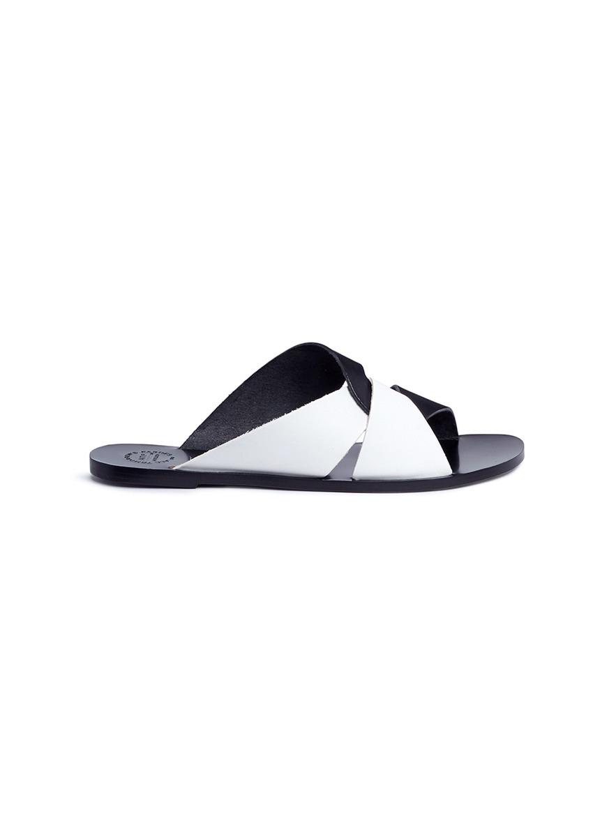 best wholesale for sale Atp Atelier black allai leather sandals cheap excellent factory outlet cheap online sale free shipping akQ06X