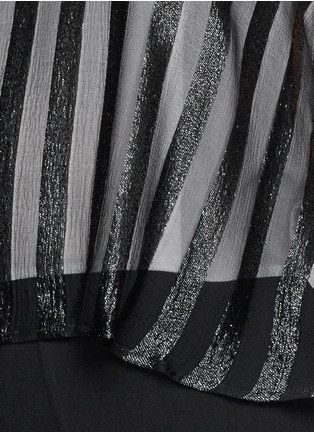 Detail View - Click To Enlarge - SANDRO - Sheer Bengal stripe romper