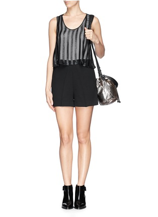 Figure View - Click To Enlarge - SANDRO - Sheer Bengal stripe romper
