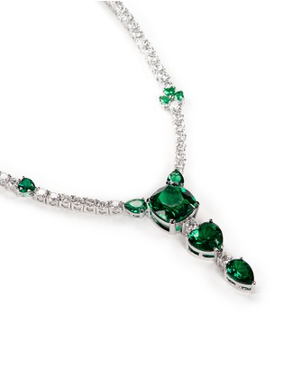 Detail View - Click To Enlarge - CZ by Kenneth Jay Lane - Cubic zirconia vertical drop necklace