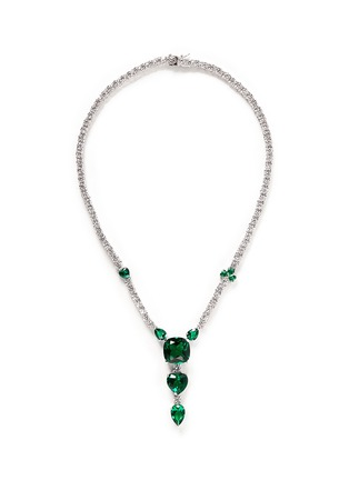 Main View - Click To Enlarge - CZ by Kenneth Jay Lane - Cubic zirconia vertical drop necklace