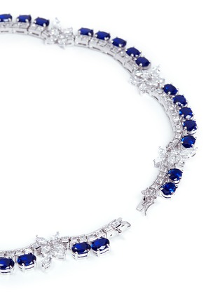 Detail View - Click To Enlarge - CZ by Kenneth Jay Lane - Oval cut cubic zirconia floral necklace
