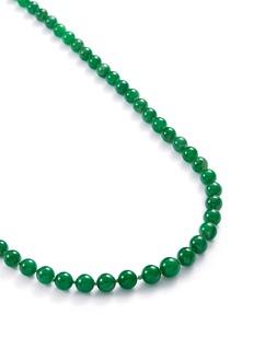Samuel Kung Diamond jade bead 18k white gold necklace