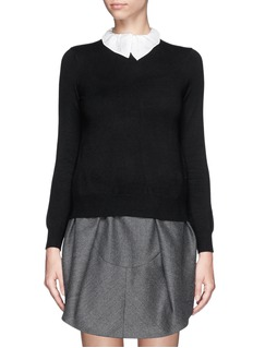 CARVEN Peter Pan collar sweater