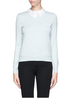 CARVEN Peter Pan collar stretch sweater