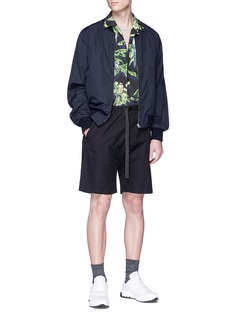 STELLA MCCARTNEY Ron Parrots鹦鹉及棕榈树印花纯棉衬衫