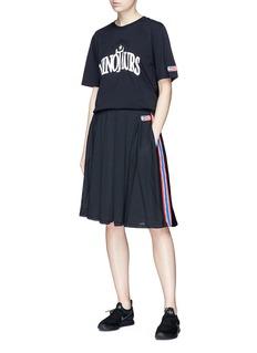 NikeLab x Riccardo Tisci stripe outseam mesh skirt