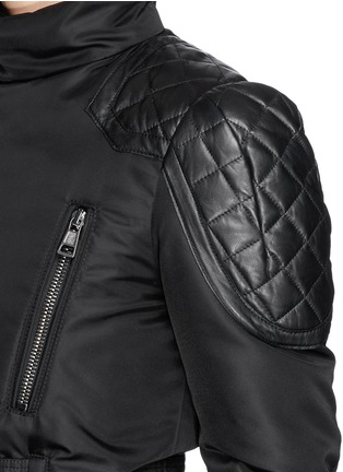 Detail View - Click To Enlarge - Moncler Capsule - 'Ran' jacquard peplum layer down jacket