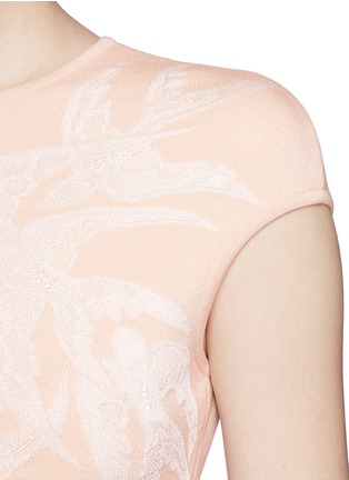 Detail View - Click To Enlarge - Alexander McQueen - Swallow jacquard body-con dress