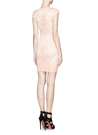 Back View - Click To Enlarge - Alexander McQueen - Swallow jacquard body-con dress