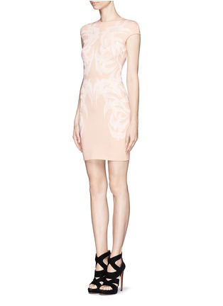 Figure View - Click To Enlarge - Alexander McQueen - Swallow jacquard body-con dress