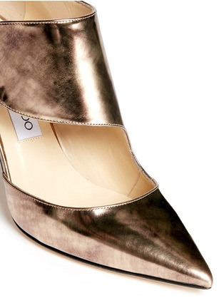 Detail View - Click To Enlarge - Jimmy Choo - 'Herald' antique mirror leather side strap pumps