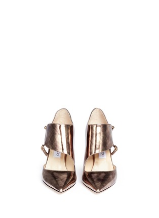 Figure View - Click To Enlarge - Jimmy Choo - 'Herald' antique mirror leather side strap pumps