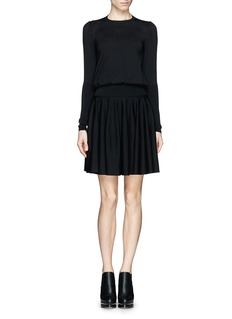 ALEXANDER MCQUEEN Fine wool knit dress