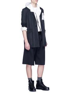 OAMC Pleated virgin wool shorts