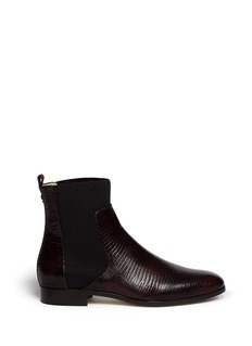JIMMY CHOO 'Mane' lizard embossed leather ankle boots