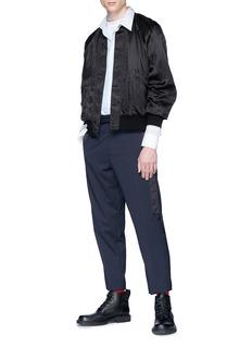OAMC 缎面侧条纹锥形裤