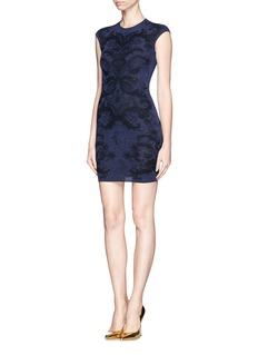 ALEXANDER MCQUEEN Baroque jacquard bodycon dress